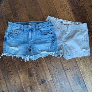 2 Pairs of Size 0 Shorts